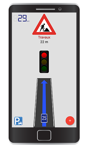 Road works warning
